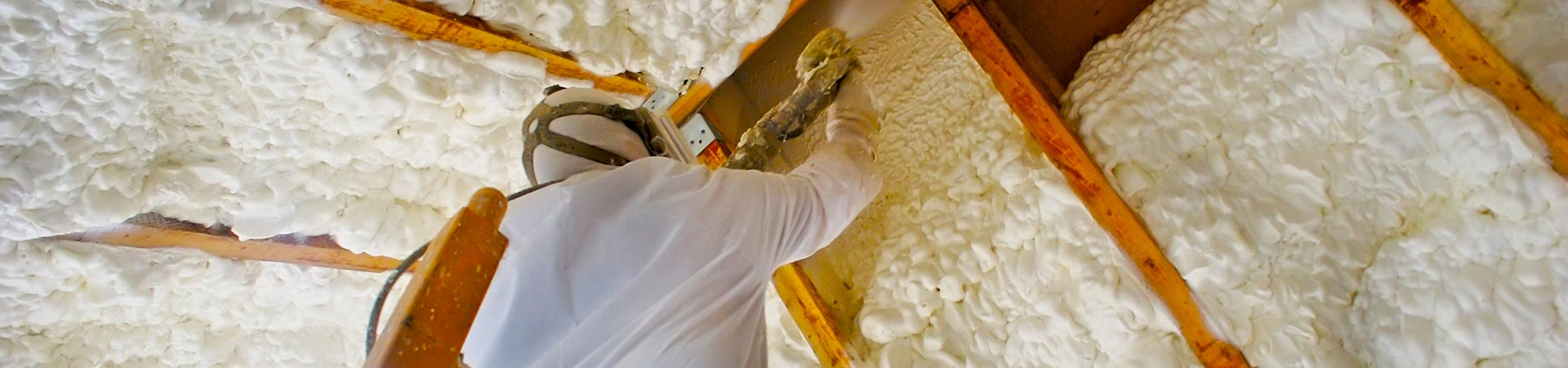 spray foam on walls