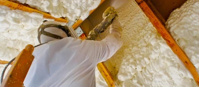 spray foam on walls