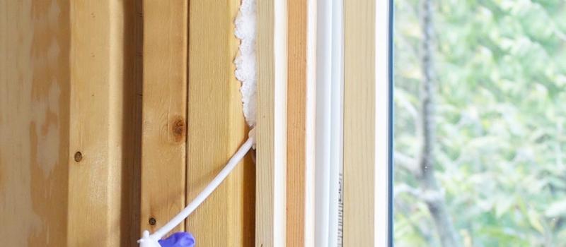 spray foam window
